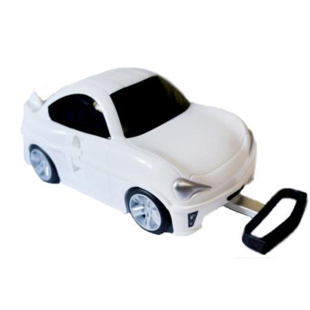 """Детский чемодан машина """"Поршик"""" белая"""
