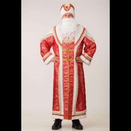 Костюм взрослый Дед Мороз Купеческий бордо