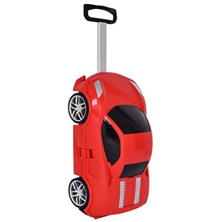 Детский чемодан машинка Ламба красный
