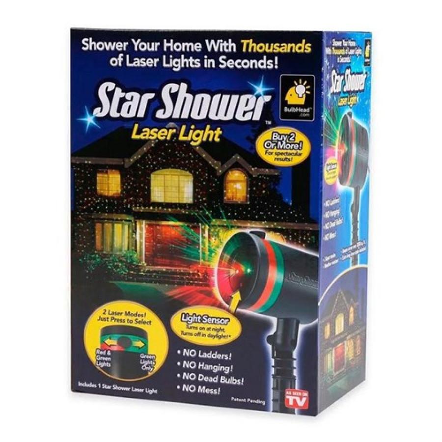 Лазерный звездный новогодний проектор Star Shower Laser Light Projector