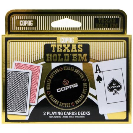 "Карты ""Copag Texas Holdem Double Metal"""