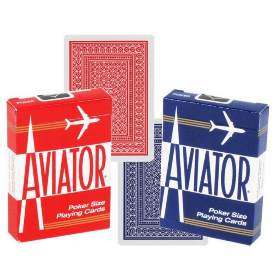 "Карты ""Aviator Standard Index red/blue"""