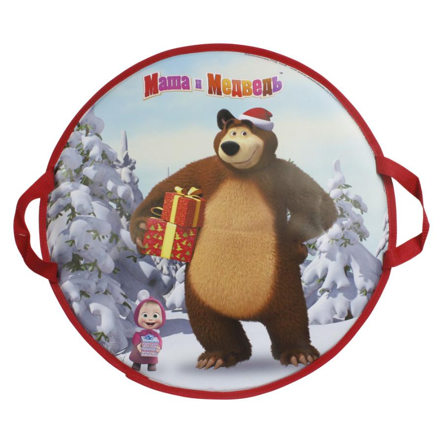 1toy Маша и Медведь ледянка 52см, круглая Т14008