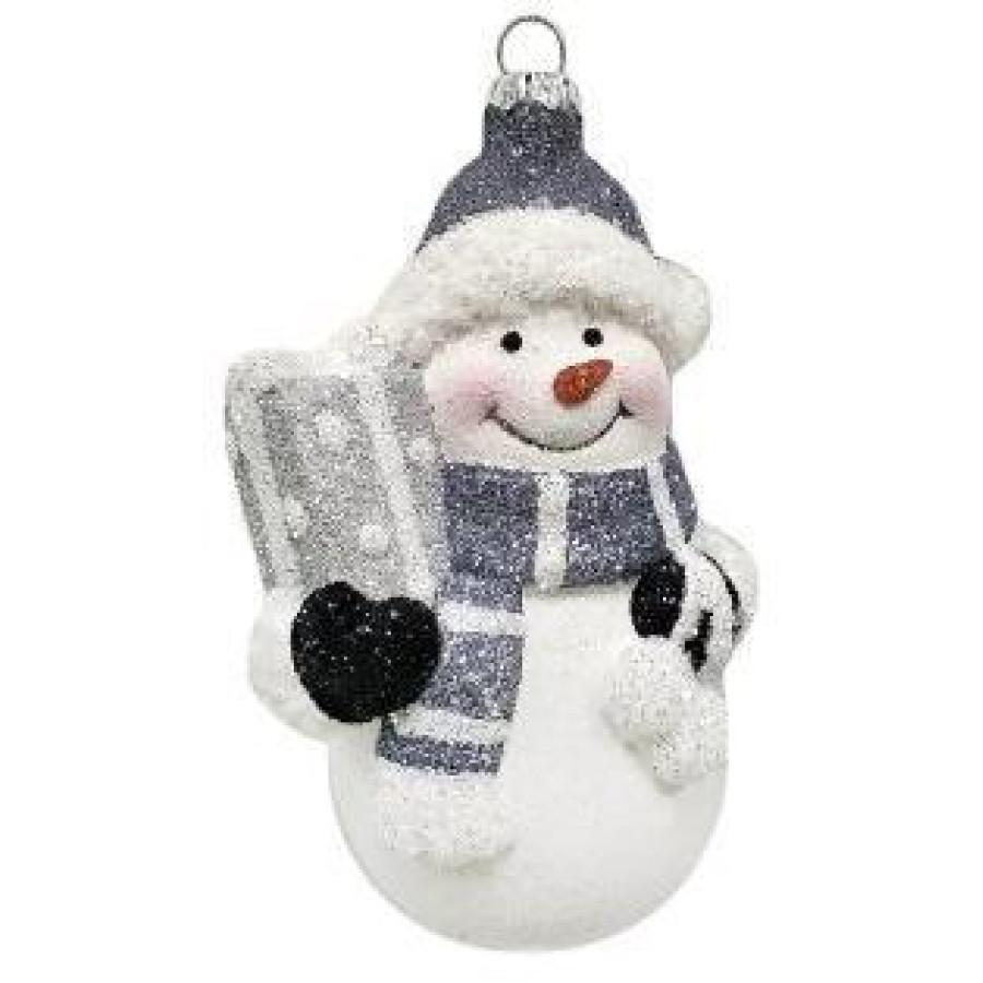Ел.укр. Снеговик 12 см, пластик