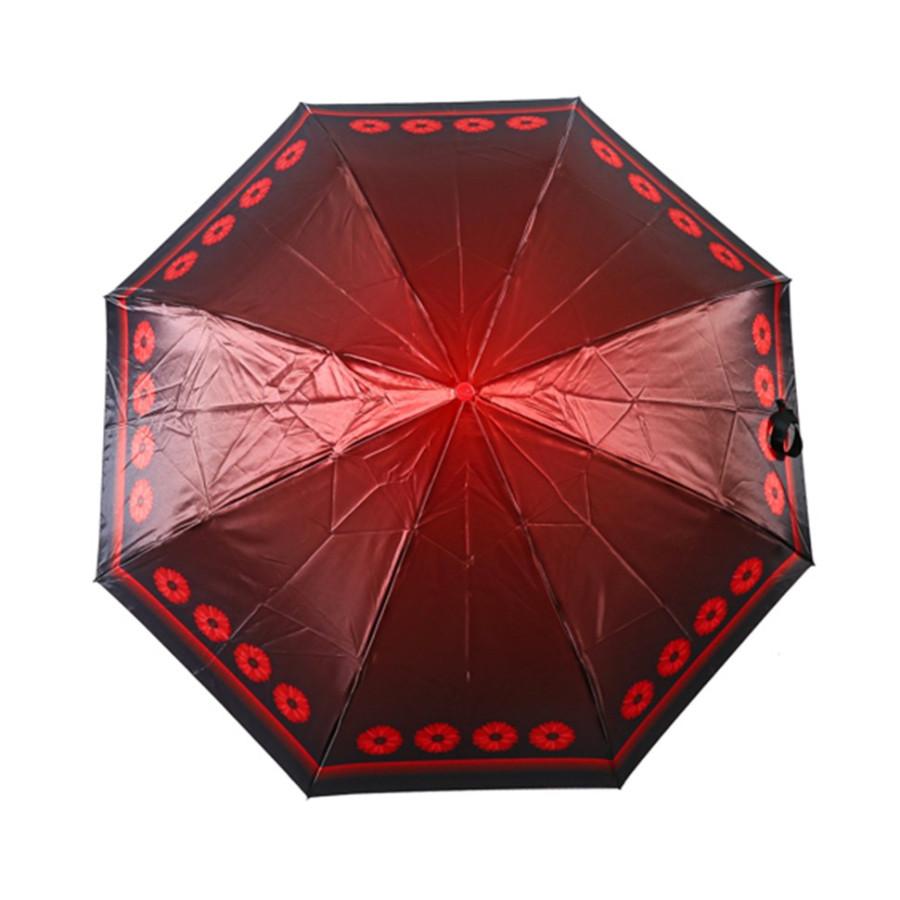 """Зонт женский 3 сложения автомат """"Сатин"""" диаметр купола 97 см 8 спиц"""