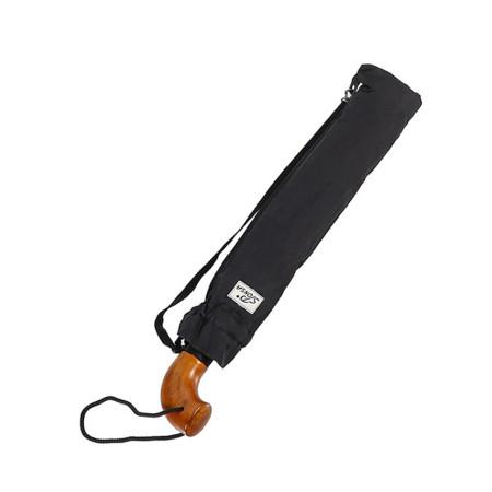 """Зонт мужской 2 сложения автомат """"Деревянная ручка"""" диаметр купола 128 см 10 спиц"""
