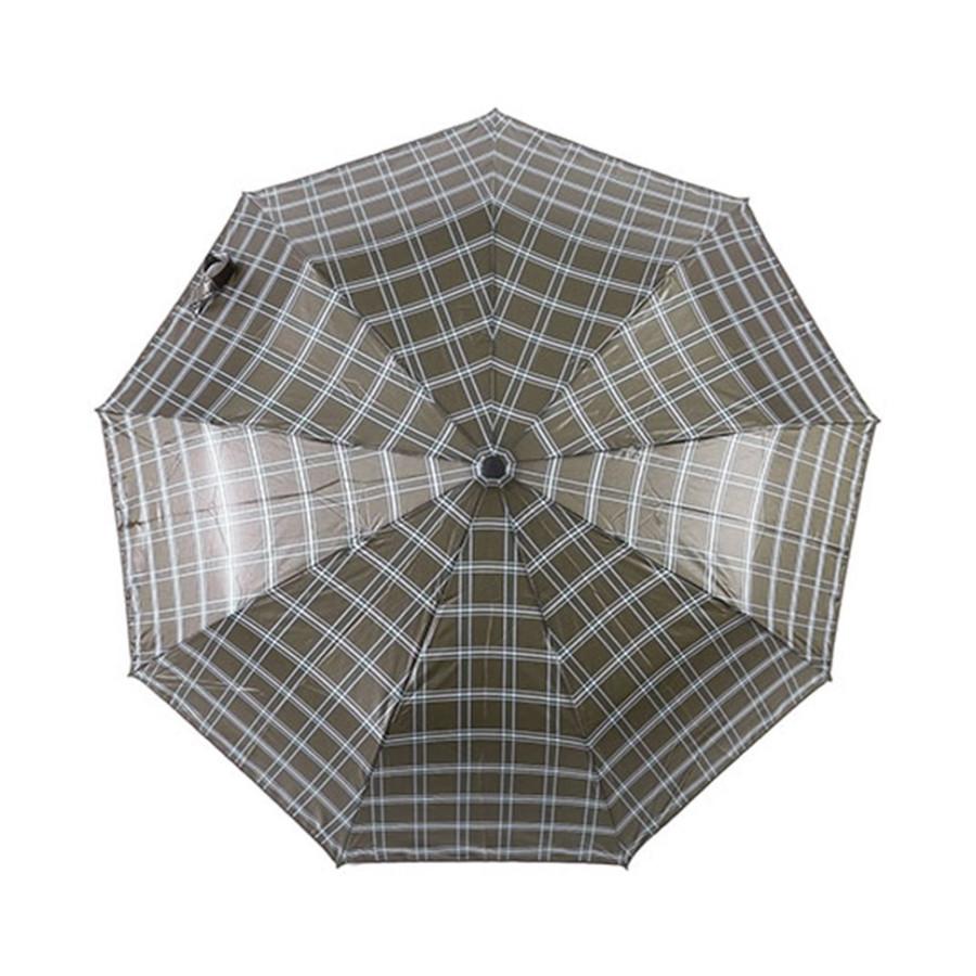 """Зонт мужской 3 сложения полуавтомат """"Прорезиненная ручка"""" диаметр купола 102 см 10 спиц"""