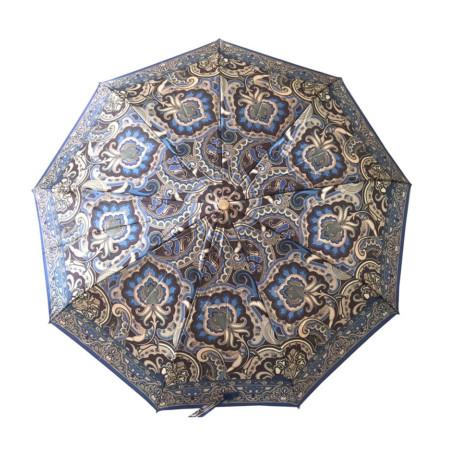 """Зонт женский 3 сложения автомат """"Микс"""" диаметр купола 97 см 9 спиц"""