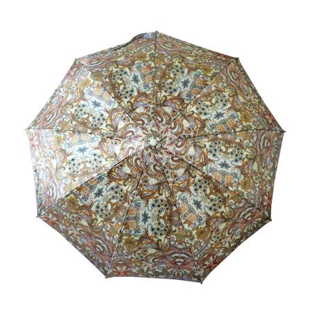 """Зонт женский 3 сложения автомат """"Разноцветный"""", диаметр купола 97 см, 9 спиц"""