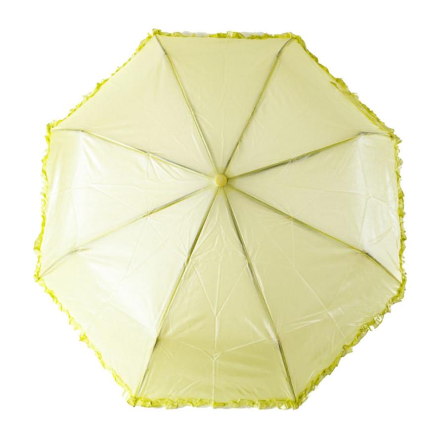 """Зонт женский 3 сложения полуавтомат """"Перламутровый с бахромой"""" полиэстер 8 спиц"""