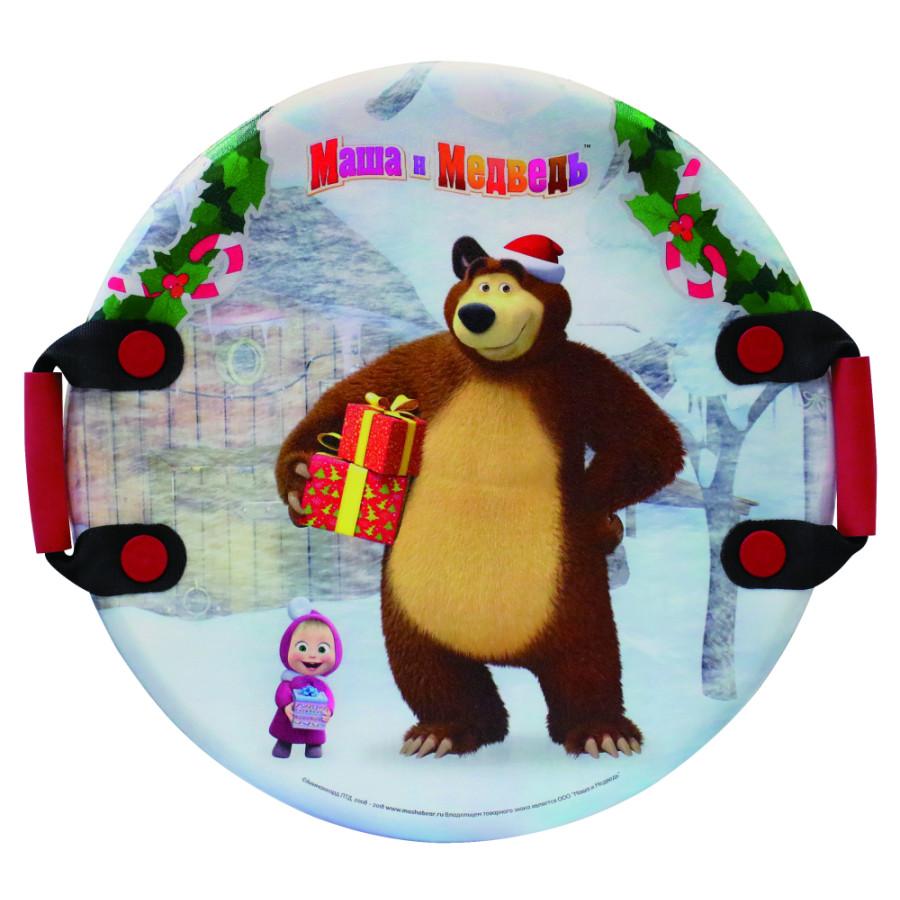 1toy Маша и Медведь ледянка 54см, кругл.с плотн.ручками Т13885
