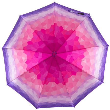 """Зонт женский 3 сложения полуавтомат """"Акварель микс"""" диаметр купола 110 см 9 спиц"""
