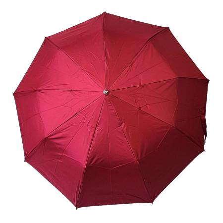 """Зонт женский 3 сложения полуавтомат """"Однотонный серебро снизу город """" 9 спиц"""