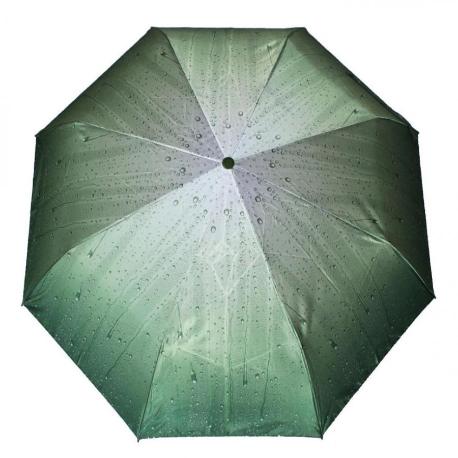 """Зонт женский 3 сложения полуавтомат """"Капельки"""" 8 спиц"""