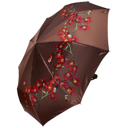 """Зонт женский 3 сложения автомат """"Сакура"""" 9 спиц"""