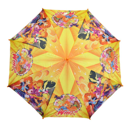 Зонт детский для девочек трость 8 спиц