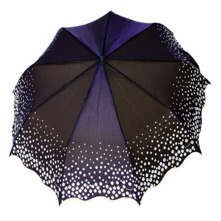 "Зонт женский 3 сложения полуавтомат ""Хамелеон ромашка"" сатин диаметр купола 102 см  9 спиц"