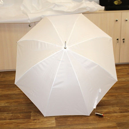 Зонт трость белый 8 спиц