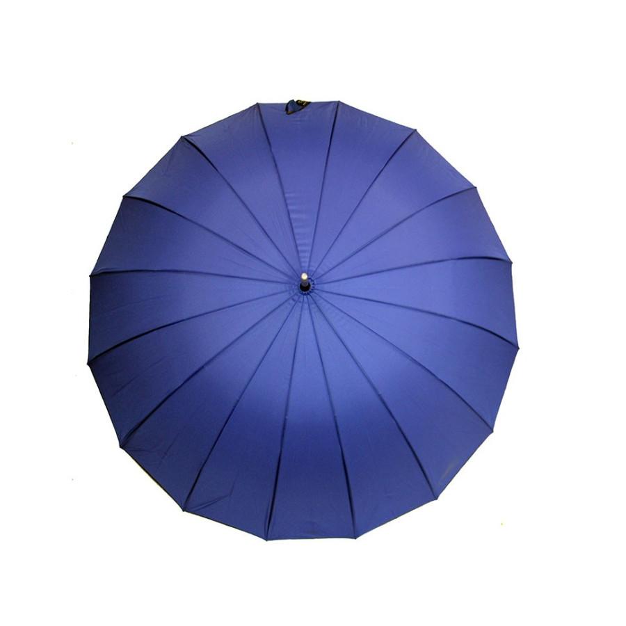 Зонт трость универсальный однотонный с облегченным каркасом 16 спиц