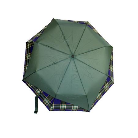 """Зонт мужской 3 сложения автомат комбинированный """"Шотландка"""" 8 спиц"""