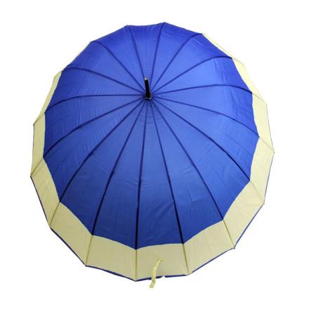 Зонт трость однотонный с каймой универсал 16 спиц
