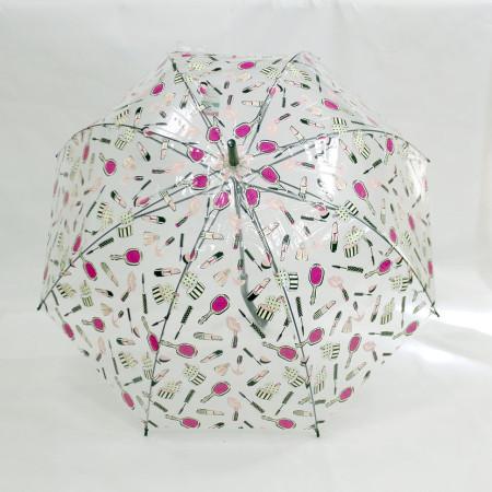 Зонт трость прозрачный цветной 8 спиц