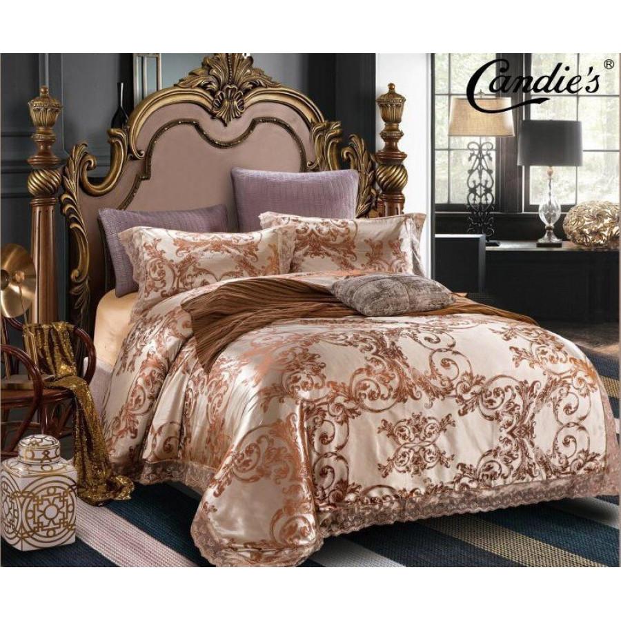 Комплект постельного белья Candie's Сатин-Жаккард в коробке CANSZ002