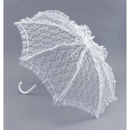 Кружевной свадебный зонт, белый