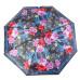 """Зонт женский 3 сложения полуавтомат """"Цветной"""" полиэстер диаметр купола 95 см 8 спиц"""
