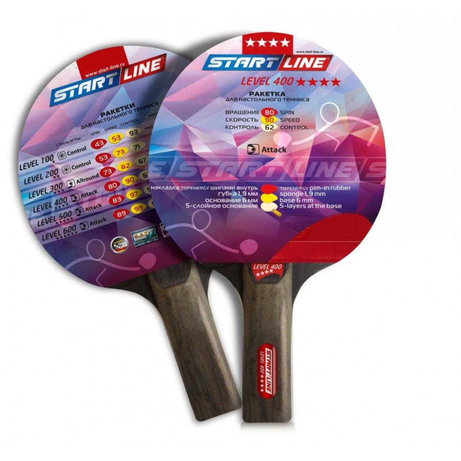 Теннисная ракетка Start line Level 400 New (прямая)