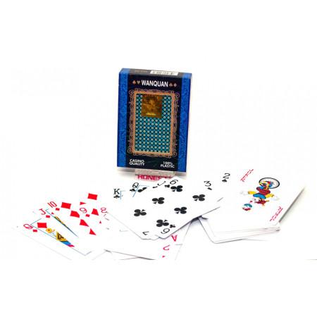 """Карты для покера """"Wanquan №88"""" 100% пластик, в пластиковом боксе"""