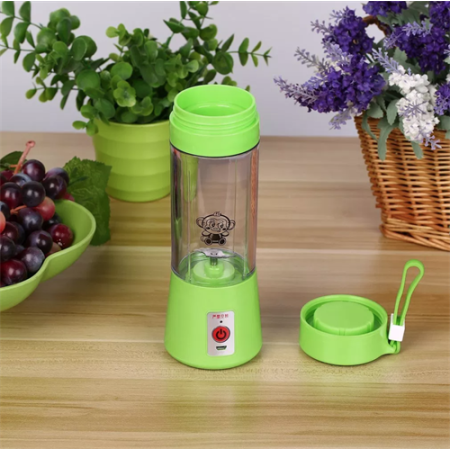 Бутылка Блендер шейкер для смузи с USB (Зеленый)