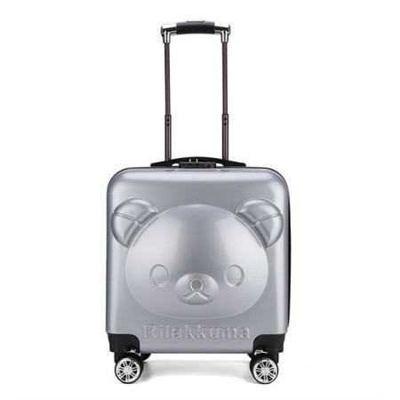 Детский чемодан Rilakkuma (Рилаккума) серебристый
