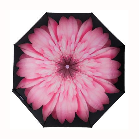 """Зонт женский 3 сложения полуавтомат """"Маков"""" диаметр купола 102 см 8 спиц"""