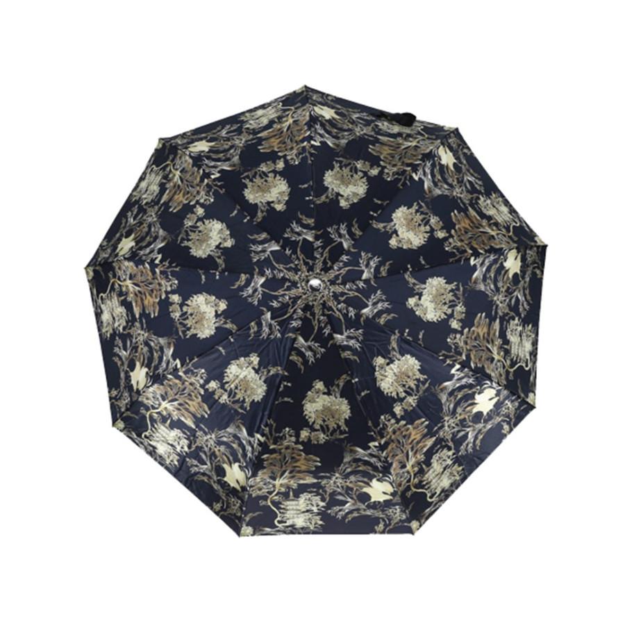 """Зонт женский 3 сложения автомат """"Кожаная ручка"""" диаметр купола 102 см 10 спиц"""