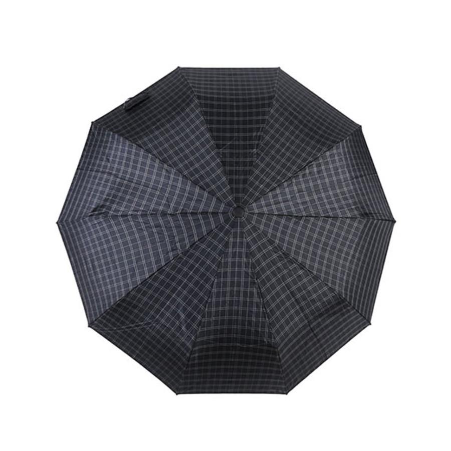 """Зонт мужской 3 сложения автомат """"Прорезиненная ручка"""" диаметр купола 102 см 10 спиц"""