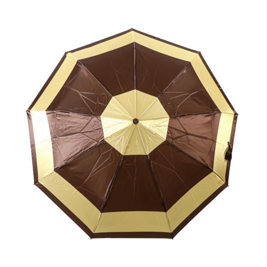 """Зонт женский 3 сложения автомат """"Сатин"""" диаметр купола 102 см 9 спиц"""