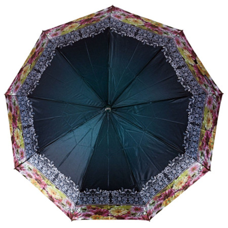 "Зонт женский 3 сложения автомат ""Кайма"" сатин диаметр купола 112 см 9 спиц"