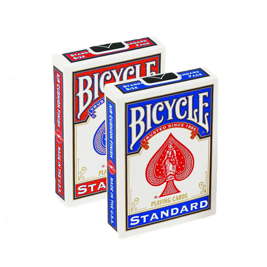 """Карты """"Bicycle Blank Back Standard Face red/blue"""""""