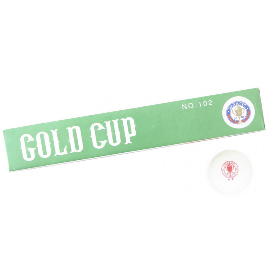 Комплект мячей для настольного тенниса «Gold cup**», 6 шт./компл.