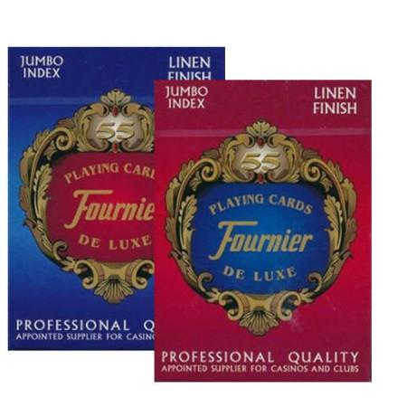 Карты Fournier no 818 g - linen finish red/blue