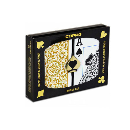 "Карты ""Copag Poker Size Jumbo 1546 Double Deck (Black, Gold)"""