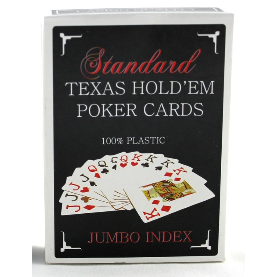 Карты для покераTexas Holdem Jumbo Index синие