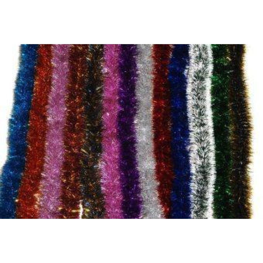 Мишура Норка №25, на проволоке, цветная голографическая 50мм