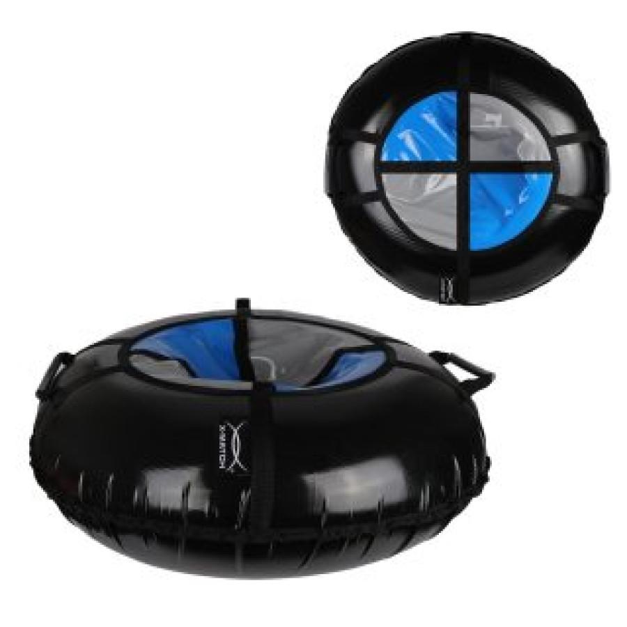 Санки надувные X-Match ПВХ, D-110 см, серо-черный