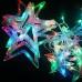 Новогодняя светодиодная гирлянда штора Звездочки 3х1м фиолетовый