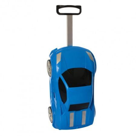 Детский чемодан машинка Ламба синий