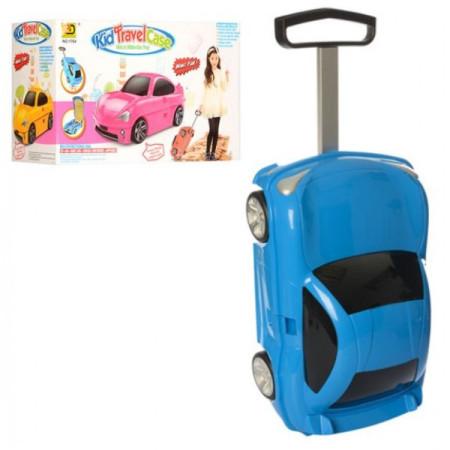 """Детский чемодан машина """"Поршик"""" синяя"""
