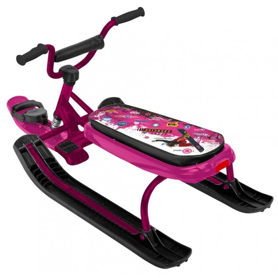 Снегокат «Ника джамп» (арт. СНД1) Зимний спорт розовый